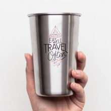Eat Well Travel Often Camping Cup