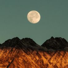 Moon Over Mountains Print